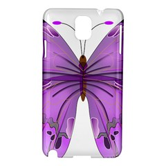 Purple Awareness Butterfly Samsung Galaxy Note 3 N9005 Hardshell Case by FunWithFibro