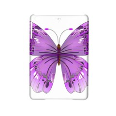 Purple Awareness Butterfly Apple Ipad Mini 2 Hardshell Case by FunWithFibro