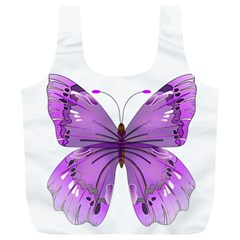 Purple Awareness Butterfly Reusable Bag (xl) by FunWithFibro