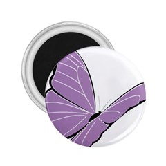 Purple Awareness Butterfly 2 2 25  Button Magnet by FunWithFibro