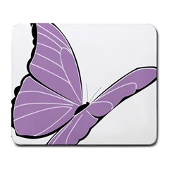 Purple Awareness Butterfly 2 Large Mouse Pad (rectangle) by FunWithFibro