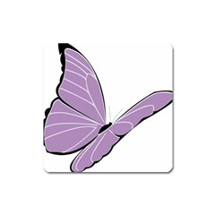 Purple Awareness Butterfly 2 Magnet (square) by FunWithFibro