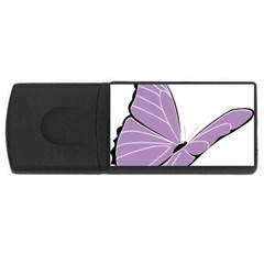 Purple Awareness Butterfly 2 4gb Usb Flash Drive (rectangle) by FunWithFibro