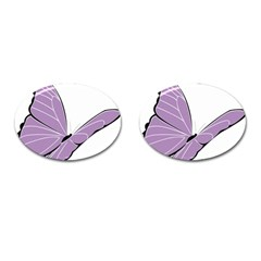 Purple Awareness Butterfly 2 Cufflinks (oval) by FunWithFibro