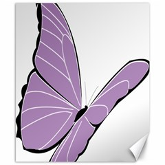 Purple Awareness Butterfly 2 Canvas 8  X 10  (unframed) by FunWithFibro
