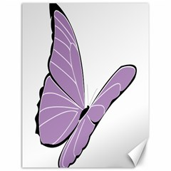 Purple Awareness Butterfly 2 Canvas 12  X 16  (unframed) by FunWithFibro