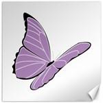 Purple Awareness Butterfly 2 Canvas 16  x 16  (Unframed) 16 x16 Canvas - 1