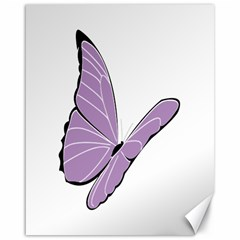 Purple Awareness Butterfly 2 Canvas 16  X 20  (unframed)