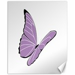 Purple Awareness Butterfly 2 Canvas 16  x 20  (Unframed) 20 x16 Canvas - 1