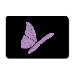 Purple Awareness Butterfly 2 Small Door Mat by FunWithFibro
