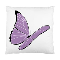 Purple Awareness Butterfly 2 Cushion Case (single Sided)  by FunWithFibro