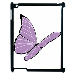 Purple Awareness Butterfly 2 Apple Ipad 2 Case (black) by FunWithFibro