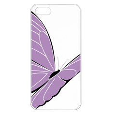 Purple Awareness Butterfly 2 Apple Iphone 5 Seamless Case (white) by FunWithFibro