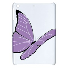 Purple Awareness Butterfly 2 Apple Ipad Mini Hardshell Case by FunWithFibro