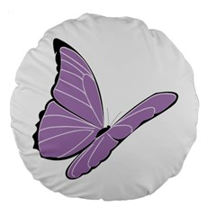Purple Awareness Butterfly 2 18  Premium Round Cushion  by FunWithFibro