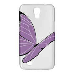Purple Awareness Butterfly 2 Samsung Galaxy Mega 6 3  I9200 Hardshell Case by FunWithFibro