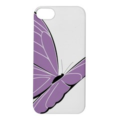 Purple Awareness Butterfly 2 Apple Iphone 5s Hardshell Case by FunWithFibro