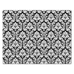 White On Black Damask Jigsaw Puzzle (rectangle) by Zandiepants