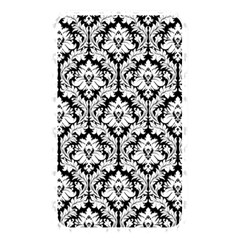 White On Black Damask Memory Card Reader (rectangular) by Zandiepants