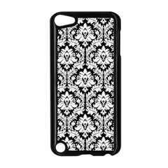 White On Black Damask Apple iPod Touch 5 Case (Black) by Zandiepants