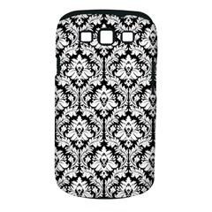 White On Black Damask Samsung Galaxy S III Classic Hardshell Case (PC+Silicone) by Zandiepants