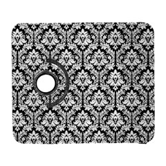 White On Black Damask Samsung Galaxy S  III Flip 360 Case by Zandiepants
