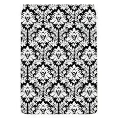 White On Black Damask Removable Flap Cover (Large) by Zandiepants