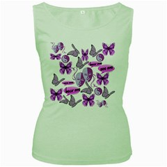 Invisible Illness Collage Women s Tank Top (green) by FunWithFibro