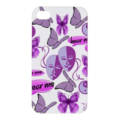 Invisible Illness Collage Apple Iphone 4/4s Premium Hardshell Case by FunWithFibro