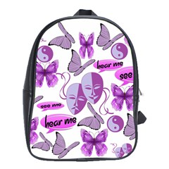 Invisible Illness Collage School Bag (xl) by FunWithFibro