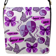 Invisible Illness Collage Flap Closure Messenger Bag (small) by FunWithFibro