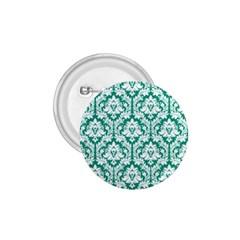 White On Emerald Green Damask 1 75  Button by Zandiepants
