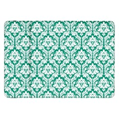 White On Emerald Green Damask Samsung Galaxy Tab 8 9  P7300 Flip Case by Zandiepants