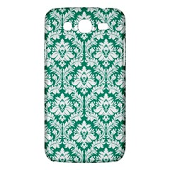 White On Emerald Green Damask Samsung Galaxy Mega 5 8 I9152 Hardshell Case  by Zandiepants