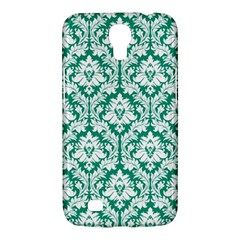 White On Emerald Green Damask Samsung Galaxy Mega 6 3  I9200 Hardshell Case by Zandiepants