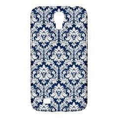White On Blue Damask Samsung Galaxy Mega 6 3  I9200 Hardshell Case