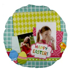 Easter By Easter   Large 18  Premium Round Cushion    Vq36rypapxsn   Www Artscow Com Back