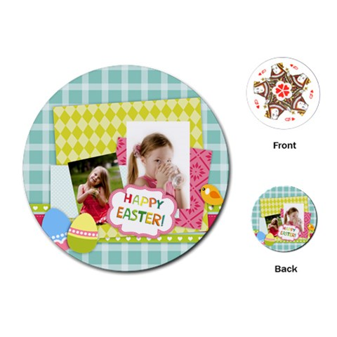 Easter By Easter   Playing Cards (round)   D5z9gpphb4pj   Www Artscow Com Front