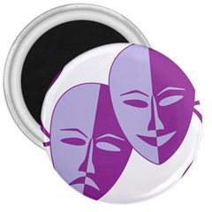 Comedy & Tragedy Of Chronic Pain 3  Button Magnet by FunWithFibro