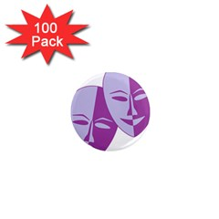 Comedy & Tragedy Of Chronic Pain 1  Mini Button Magnet (100 Pack) by FunWithFibro