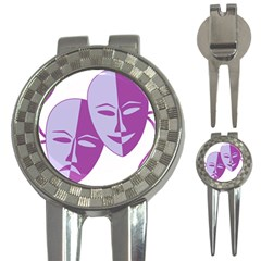 Comedy & Tragedy Of Chronic Pain Golf Pitchfork & Ball Marker by FunWithFibro