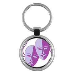 Comedy & Tragedy Of Chronic Pain Key Chain (round) by FunWithFibro