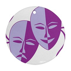 Comedy & Tragedy Of Chronic Pain Round Ornament (two Sides) by FunWithFibro