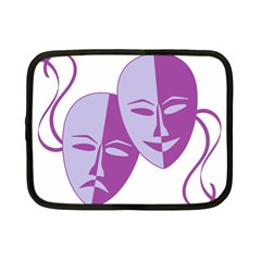 Comedy & Tragedy Of Chronic Pain Netbook Sleeve (small) by FunWithFibro