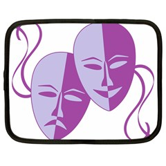 Comedy & Tragedy Of Chronic Pain Netbook Sleeve (large) by FunWithFibro