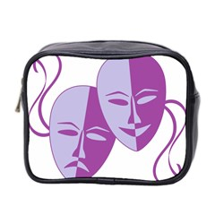 Comedy & Tragedy Of Chronic Pain Mini Travel Toiletry Bag (two Sides) by FunWithFibro