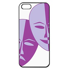 Comedy & Tragedy Of Chronic Pain Apple Iphone 5 Seamless Case (black) by FunWithFibro