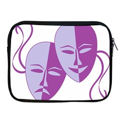 Comedy & Tragedy Of Chronic Pain Apple Ipad Zippered Sleeve by FunWithFibro