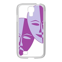 Comedy & Tragedy Of Chronic Pain Samsung Galaxy S4 I9500/ I9505 Case (white) by FunWithFibro