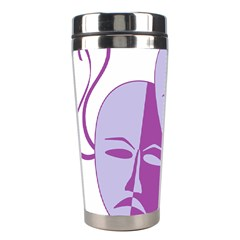 Comedy & Tragedy Of Chronic Pain Stainless Steel Travel Tumbler by FunWithFibro